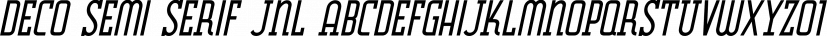 Deco Semi Serif JNL font family by Jeff Levine Fonts