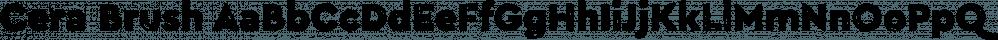 Cera Brush font family by TypeMates