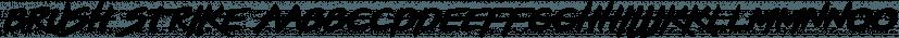 Brush Strike font family by Zetafonts