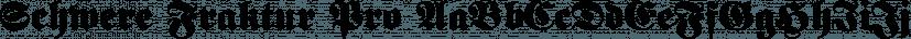 Schwere Fraktur Pro font family by SoftMaker