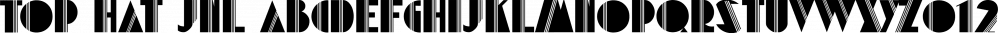 Top Hat JNL font family by Jeff Levine Fonts