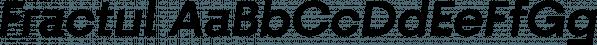 Fractul font family by Adam Ladd