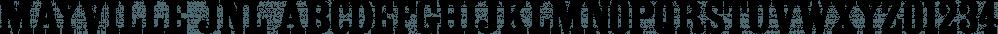 Mayville JNL font family by Jeff Levine Fonts