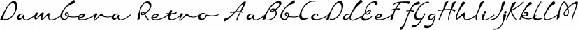 Dambera Retro font family by Tour de Force Font Foundry