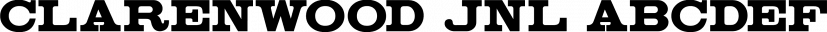 Clarenwood JNL font family by Jeff Levine Fonts