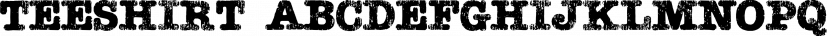 Teeshirt font family by Typodermic Fonts Inc.
