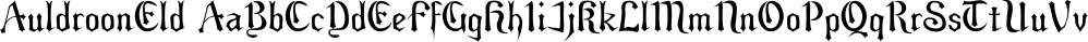 AuldroonEld font family by Ingrimayne Type