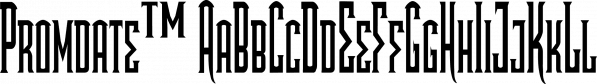 Promdate™ font family by MINDCANDY