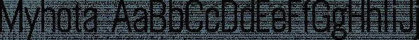 Myhota font family by Ingrimayne Type