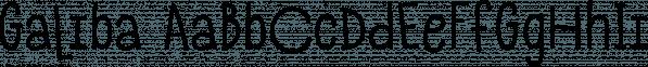 Galiba font family by Juraj Chrastina
