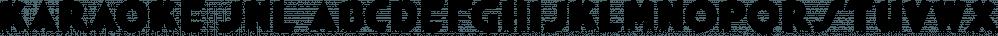 Karaoke JNL font family by Jeff Levine Fonts