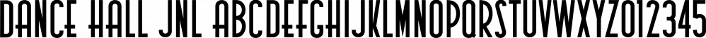 Dance Hall JNL font family by Jeff Levine Fonts