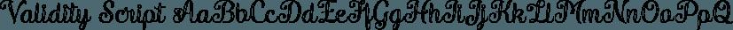 Validity Script font family by Måns Grebäck