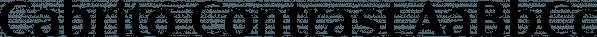 Cabrito Contrast font family by Insigne Design