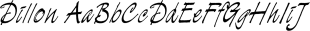 Dillon font family mini