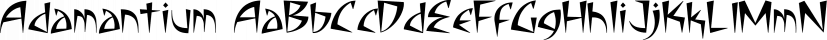 Adamantium font family by Comicraft