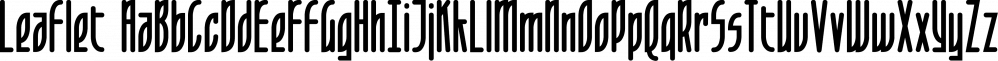 Leaflet font family by Fonthead Design