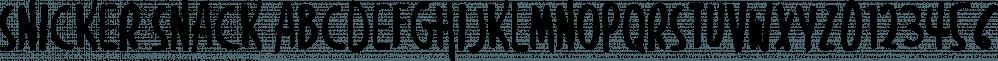 Snicker Snack font family by Sharkshock