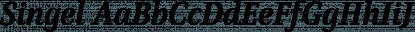 Singel font family by Fontfabric