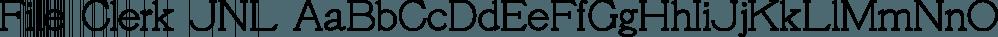 File Clerk JNL font family by Jeff Levine Fonts