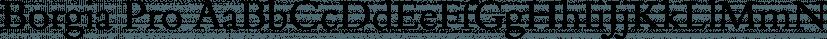 Borgia Pro font family by FontSite Inc.