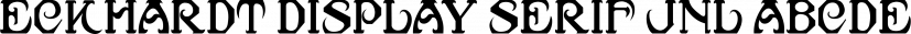 Eckhardt Display Serif JNL font family by Jeff Levine Fonts