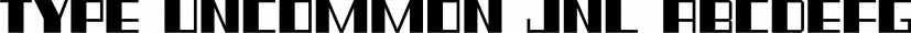 Type Uncommon JNL font family by Jeff Levine Fonts