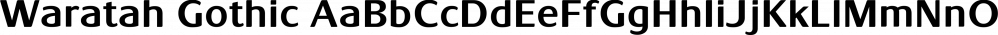 Waratah Gothic font family by Bean & Morris Fonts
