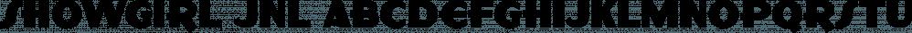 Showgirl JNL font family by Jeff Levine Fonts