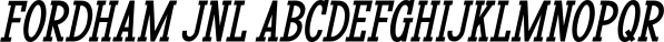 Fordham JNL font family by Jeff Levine Fonts