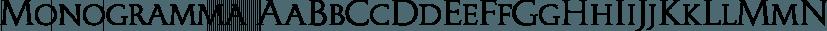 Monogramma font family by Wiescher-Design
