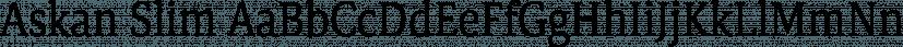 Askan Slim font family by Hoftype