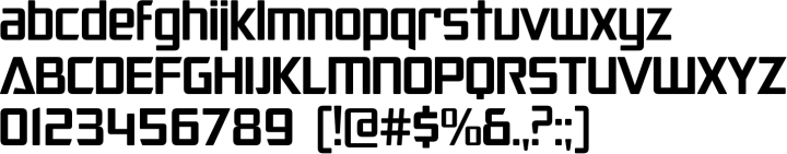 SF Animatron Font Specimen