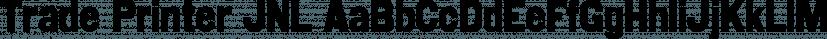 Trade Printer JNL font family by Jeff Levine Fonts