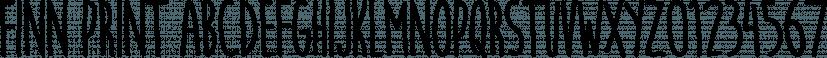 Finn Print font family by FontSite Inc.