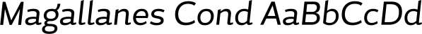 Magallanes Cond font family by Latinotype