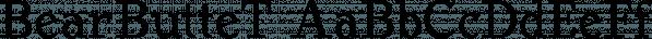 BearButteT font family by Ingrimayne Type