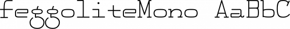 FeggoliteMono font family by Ingrimayne Type