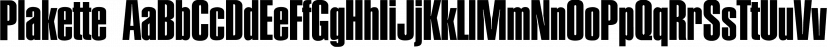Plakette font family by FontSite Inc.