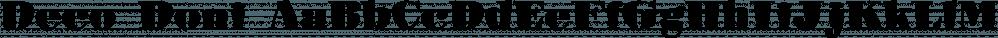Deco Doni font family by Scholtz Fonts