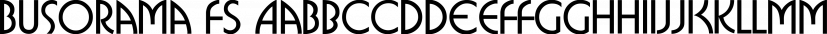 Busorama FS font family by FontSite Inc.