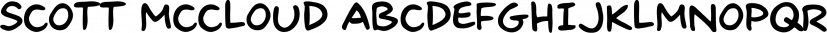 Scott McCloud font family by Comicraft