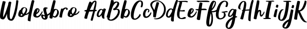 Wolesbro font family by Locomotype