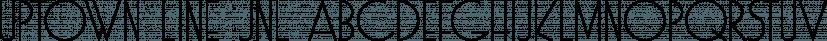 Uptown Line JNL font family by Jeff Levine Fonts