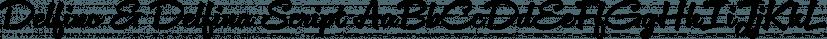 Delfino & Delfina Script font family by Eclectotype Fonts
