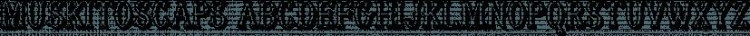 MuskitosCaps font family by Ingrimayne Type
