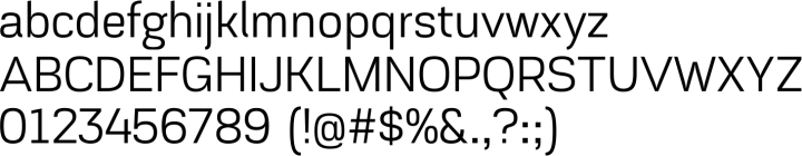 Akzentica 4F Font Specimen