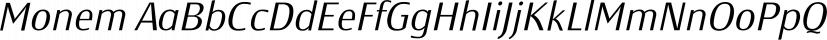 Monem font family by Wiescher-Design