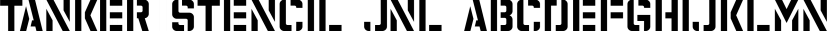 Tanker Stencil JNL font family by Jeff Levine Fonts