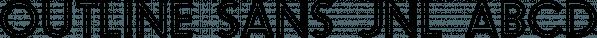 Outline Sans JNL font family by Jeff Levine Fonts